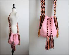 Free shipping to USA// Wayuu Bag  Hand woven by PARASOLvintage,