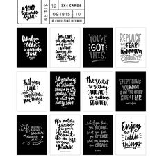 *Exclusive* 100 Postcards by CH - digital card set Project Life Cards, Pocket Scrapbooking, Creativity Quotes, College Life, Hand Lettering, Physics, The 100, Graphic Design, Let It Be