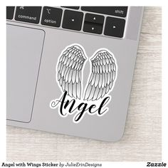 Cute Laptop Stickers, Funny Stickers, Can Design, Design Your Own, Decorated Water Bottles, Vinyl Sheets, Personalized Stickers, Angel Wings, White Ink