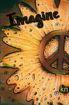 ✌Peace Sign Flower  __[Peace sign Art by KN]  __11/17/2016 #sunflower #cYellow #cBrowns