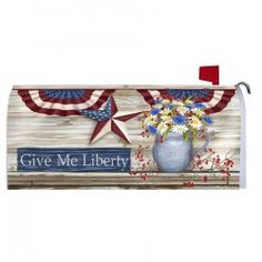 Magnetic Mailbox Cover -Give Me Liberty