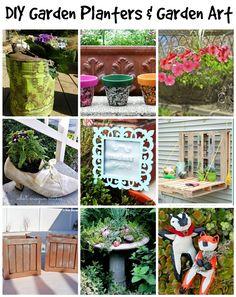 DIY Garden Planters and DIY Garden Art - 9 DIYs to easily make your own!