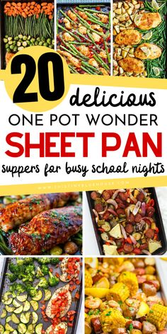 99 Crazy Busy School Night Meal Ideas - This Tiny Blue House Make busy weeknight dinners easy with these delicious sheet pan dinner ideas. These busy school night meal ideas are perfect on nights when you need to get a delicious meal on the table quick! Budget Family Meals, Frugal Meals, Easy Weeknight Meals, Easy Meals, Food Budget, Budget Recipes, Freezer Meals, Healthy Meals, Healthy Eating