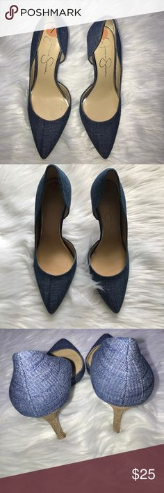 NEW Jessica Simpson True Blue Denim Pumps - Size 7 NEW Jessica Simpson True Blue Denim Pumps, size 7M.  Heel height is 3.5 inches. Happy shopping! 👠 Jessica Simpson Shoes Heels