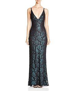 17ab8b07651 ABS by Allen Schwartz V-Neck Lace Gown Women - Bloomingdale s