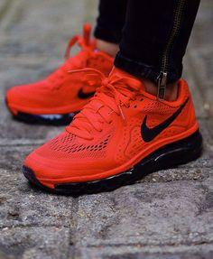Nike Air Max 2014 Crimson (Black Swoosh & Sole)