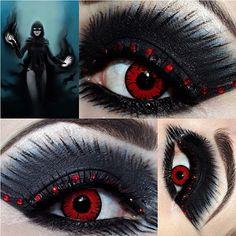 Amazing Luciferismydad used Sugarpill Bulletproof eyeshadow to create her wicked Raven, Daughter of Darkness inspired look.