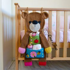 Teddy Bear Organizer  PDF Crochet Pattern  Instant Download