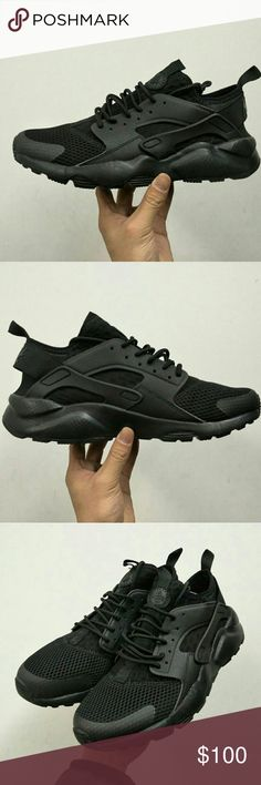 Nike Huarache Ultra Run BR Brand New in Box Nike Huarache Ultra Run (DS) Color: All Black/ Triple Black Comes with the shoe Box  Retails for $130 +tax asking less than store cost Will ship within 24-48hrs depending on time of day Never worn or Tried on Satisfaction Guaranteed Nike Shoes Sneakers