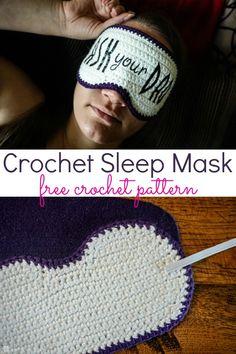Crochet Sleep Mask: Free Crochet pattern