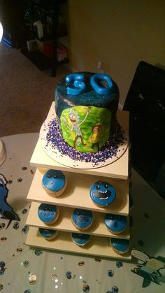 Mr Meseeks From Rick And Morty Birthday Cakes Pinterest