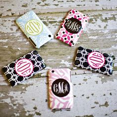 Monogram Cell Phone Case by Rosenberry Rooms $54.00