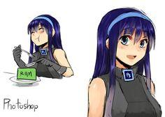 Les logiciels dessinés en personnages de manga #digital