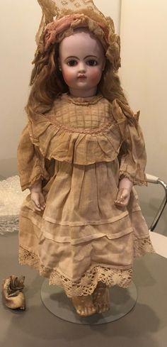 "Antique French 13"" F G bisque doll Bru look gusseted body swivel head Gautlier   eBay"