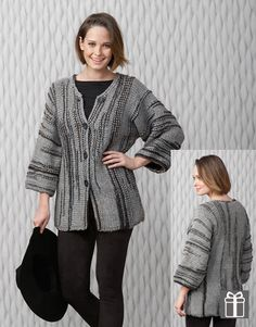 Designs for women by Katia #winter #fall 2014 / 2015 #autumn #naturalgrey #knitting #freepattern #fashion