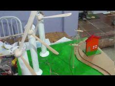 Cardboard wind generator for models