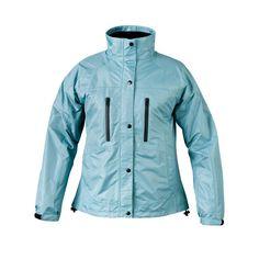 Ladies RX Aqua Blue Medium Rain Jacket, Women's