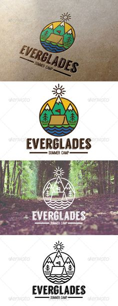Summer Camp Everglades Logo  EPS Template • Download ➝ https://graphicriver.net/item/summer-camp-everglades-logo/7795684?ref=pxcr