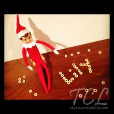 "Elf on the shelf, this is such a cute idea. You read your child the ""elf on the shelf"" book and then adopt and name a elf of your own. When your elf arrives he'll keep watch over your home and reports back to Santa who's been naughty or nice. Parents put the elf in a new spot everyday so your kids never know where he'll pop up. I LOVE this!!!!"