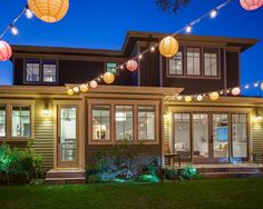Outdoor Party | Colorful Chinese Lanterns | String Lights | Patio Lighting | Globe Bulbs | Backyard Ideas
