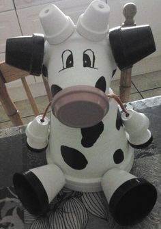cow terra cotta pots