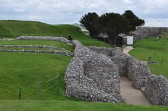 The ruins of Old Sarum Castle, England