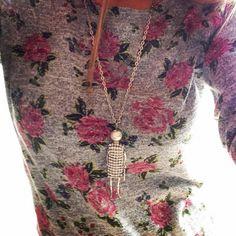 Collana Bambolina Strass Argento - Arte in Miniatura