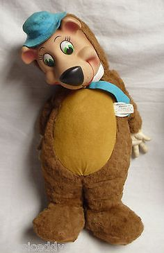 Extra Large Vintage Stuffed Doll With Plastic Face Rag