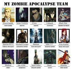 What's your apocalypse team #zombieapocalypse
