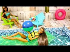 How to Make a Doll Swimming Pool.  Other GREAT doll house goodies on this youtube channel.