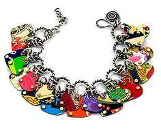 Charmed Hearts Convertible Bracelet & Necklace: Beth Taylor: Metal Bracelet or Necklace   Artful Home