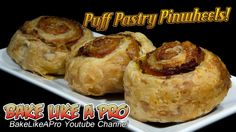 Black Forest Ham And Parmesan Cheese Puff Pastry Pinwheels Recipe !