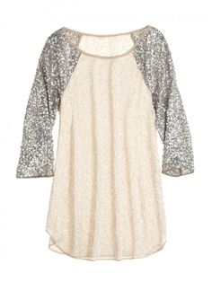 girly and tom boy...sequined top