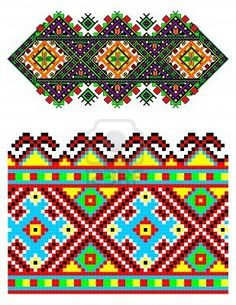 illustrations of ukrainian embroidery ornaments