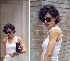 Karla Deras Curly Pixie Cut                                                                                                                                                                                 More