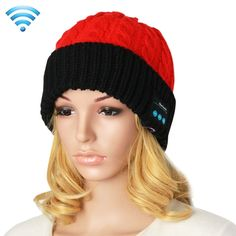 [$9.03] Bluetooth Headset Beanie Knitted Warm Winter Hat for iPhone 6 & 6s / iPhone 5 & 5S / iPhone 4 & 4S and Other Bluetooth Devices(Red)