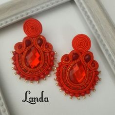 Soutache Jewelry, Crochet Earrings, Fashion, Clocks, Stud Earrings, Accessories, Moda, Fashion Styles, Fashion Illustrations