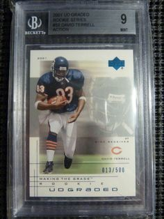 2001 UD Graded Rookie Series David Terrell Action BGS 9 MINT RC #/500 Bears NFL http://r.ebay.com/fhZjhN via @eBay
