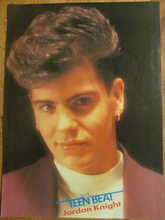 New Kids on the Block, NKOTB, Jordan Knight, The Party, Full Page Vintage Pinup