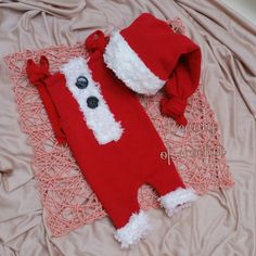 Baby boy Santa outfit newborn boy romper and by BeautyOfCrochet