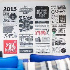 Something similar with the history of Huddle Office Branding, Office Walls, Office Designs, Office Ideas, Vinyl Projects, Wall Murals, Typography, Chill, Infographic