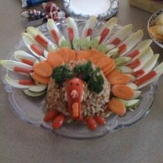 Turkey cheese ball! Purfect for a thanksgiving appitizer!