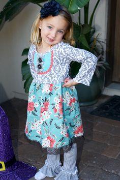 Addy Dress (sizes 18m, 2t, 3t, 4t, 6. $48.00, via Etsy.  My favorite new dress!!