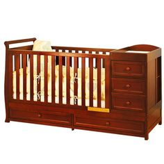 Afg Baby Daphne 3 In 1 Crib & Changer Combo In Cherry