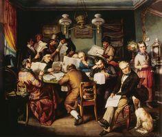 Heinrich Lukas Arnold: The Reading Room, circa 1840 #ARTEmisiaLegge e #artisticaMENte  @libriamotutti  http://www.libriamotutti.it/