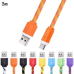 1M 2M 3M High quality Colorful Micro USB Flat Braided Synchronization Charger Cable Cord Adapter for Android Smart Phones-in MP3 / MP4 Player Charger from Consumer Electronics on Aliexpress.com | Alibaba Group