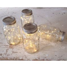 20 fairy lights for Mason jar. Rustic Wedding decor, Led lights, Wedding lights, Mason Jar light for wedding centerpiece. *lights only