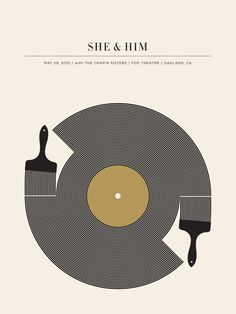 She & Him, 29 may 2010, Oakland (California). Artist: Jason Munn - La bellezza dei poster del rock - Il Post