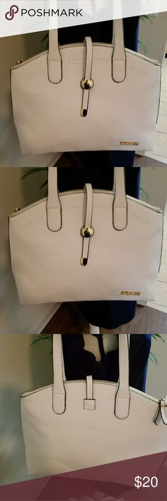 WHITE Shoulder HOBO style bag *med/ large* Kenneth Cole reaction hobo style bag white shoulder bag with gold signature  Brand-new Kenneth Cole Reaction Bags Shoulder Bags