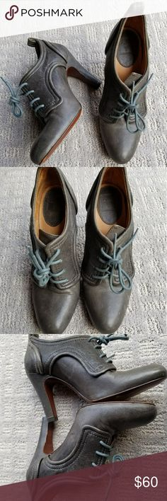 Frye ava Oxford gray bootie block heel soft leathe Please refer to picture please ask questions Frye Shoes Ankle Boots & Booties